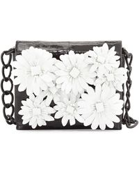 Nancy Gonzalez - Small Crocodile Flower Chain Bag - Lyst