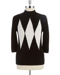 Anne Klein Three Quarter Sleeved Sweater - Lyst