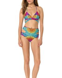 Mara Hoffman Wrap Around Triangle Bikini Top - Lyst
