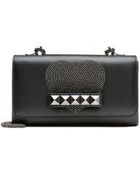 Valentino Cash & Rocket Va Va Voom Leather Shoulder Bag black - Lyst