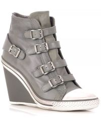 Ash Thelma Leather Wedge Trainers - Lyst