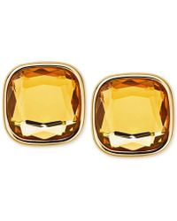 Michael Kors Gold-Tone Citrine Stud Earrings gold - Lyst