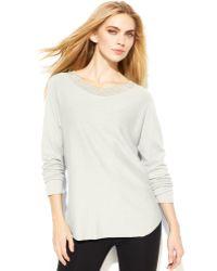 Michael Kors Petite Rhinestone Trim Sweater - Lyst