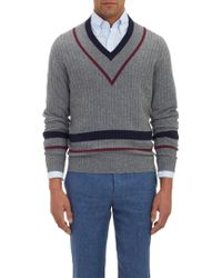 Michael Bastian Tennis V-Neck Sweater - Lyst