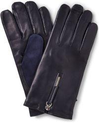 Want Les Essentiels De La Vie - Mozart Cashmere-Lined Leather And Suede Gloves - Lyst