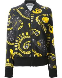 Moschino Accessories Print Bomber Jacket - Lyst