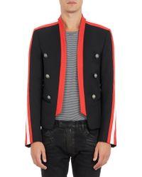 Balmain Stripe-sleeve Military Jacket - Lyst