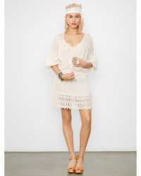 Denim & Supply Ralph Lauren Smocked Peasant Dress - Lyst