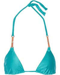 Vix Embellished Triangle Bikini Top - Lyst