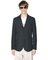 Giorgio Armani Waffle Effect Linen & Silk Jacket green - Lyst