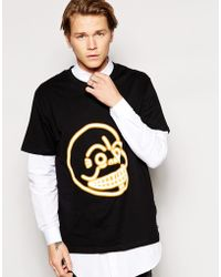 Cheap Monday Fantastic Neon Skull T-shirt - Lyst