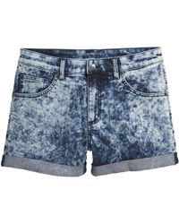 H&M Denim Shorts blue - Lyst