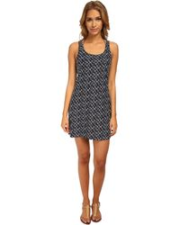 MICHAEL Michael Kors Stacked Logo Tank Cover-Up - Lyst