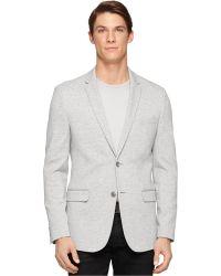 Calvin Klein Unstructured Knit Sport Coat gray - Lyst