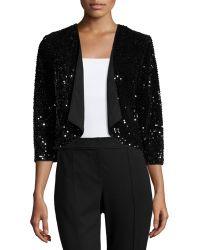 Chetta B - Sequin Velvet Bolero Jacket - Lyst