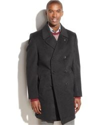 Vince Camuto - Double-Breasted Water-Repellent Wool-Blend Coat - Lyst