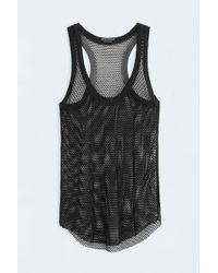 Zadig & Voltaire Weep Fishnet Tank Top black - Lyst