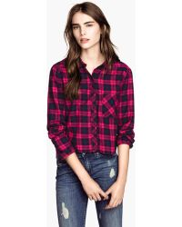 H&M Checked Shirt - Lyst