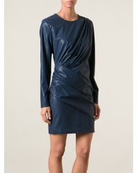 MSGM Faux Leather Cocktail Dress - Lyst