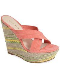 Pelle Moda 'Shane' Platform Wedge Sandal - Lyst