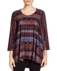 Nally & Millie | Geometric Print Tunic | Lyst