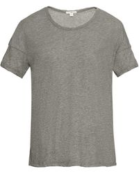 James Perse Dropped-shoulder Jersey T-shirt - Lyst