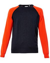 Chinti And Parker Contrastsleeve Cashmere Sweater - Lyst