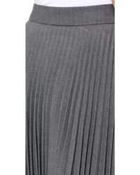 Milly Alex Pleated Skirt Graphite - Lyst