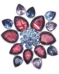 Jones New York - Silver-Tone Purple Flower Burst Pin - Lyst
