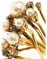 Erickson Beamon | Stratosphere Crystal & Faux-Pearl Ring | Lyst