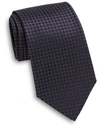 Armani Diamond-print Silk Tie - Lyst