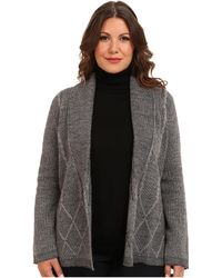 Pendleton Plus Size Placed Cable Cardigan - Lyst
