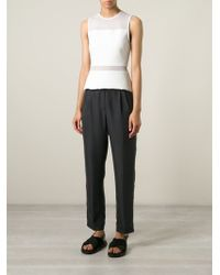 MSGM Pleated Tapered Trousers - Lyst
