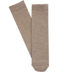 Dolce & Gabbana - Metallic-gold Ankle Socks - Lyst