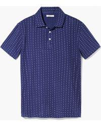 Mango Man Motif-Print Cotton Polo Shirt - Lyst