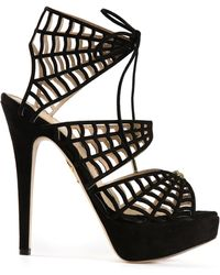 Charlotte Olympia Miss Muffet Heeled Sandals - Lyst