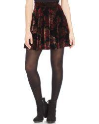 American Rag - Velvet Skater Skirt - Lyst