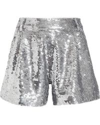 Ashish Silver Sequinned Shorts - Lyst