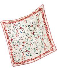 Tory Burch | Silk Souvenir Square Scarf | Lyst