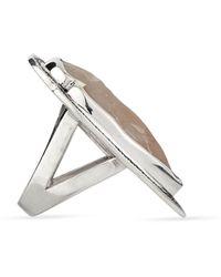 Pamela Love Jasper Arrowhead Ring with Pave Sapphire - Lyst