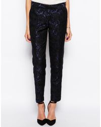 TFNC London - Lace Slim Trousers - Lyst