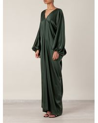 Lanvin Draped Silk Evening Gown - Lyst