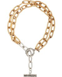 Camille K - Stella Double Chain Necklace - Lyst