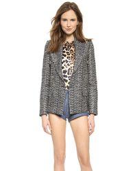 Rodarte Metallic Tweed Jacket Metallic - Lyst
