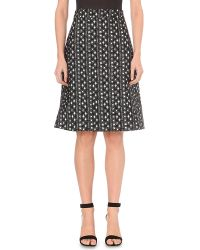 OSMAN | Spotted Jacquard A-line Skirt | Lyst