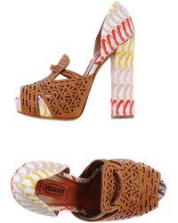 Missoni Sandals brown - Lyst