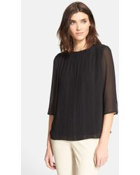 Ted Baker 'Kensir' Pleated Woven Top - Lyst