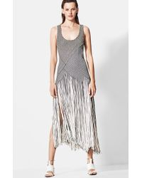 Proenza Schouler Women'S Basket Weave Fringe Skirt Dress - Lyst