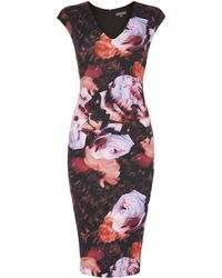 Pied a Terre   Rose Print Dress   Lyst