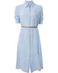Altuzarra Belted Check Shirt Dress - Lyst